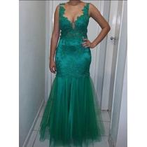 Vestido Sereia Verde Bandeira .38/40