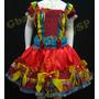 Vestido Junino Fantasia Festa Junina Caipira Infantil Luxo