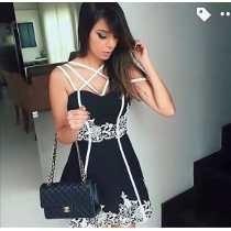Vestido Feminino Com Bojo E Renda