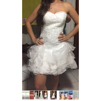 Vestido Curto Importado Noiva/debutante Tamanho M