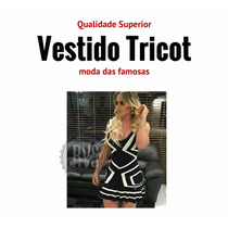 Vestido Tricot Geometrico Feminino Panicats Modelo Exclusivo