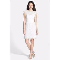 Vestido Feminino Gg Elegante Refinado Fino Em Renda Branco