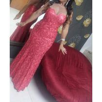 Vestido Lindo Cor Coral,usado Por Uma Noite. Mãe Da Noiva.
