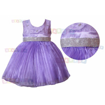 Vestido Da Princesa Sofia Tema Festa Infantil - Modelo Luxo