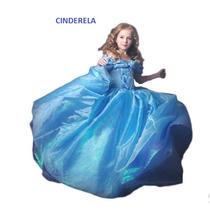 Cinderela Vestido Infantil Fantasia Roupa Festa Criança