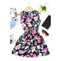 Vestido De Seda Chifon Estampa Floral Pronta Entrega