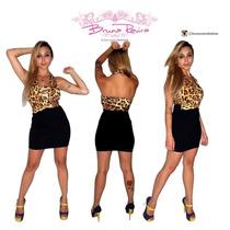 Vestido Limone Frente Unica Onça Festa Fashion