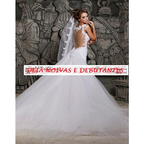 Vestido De Noiva Renda Sereia Lindo - Novo- Pronta Entrega