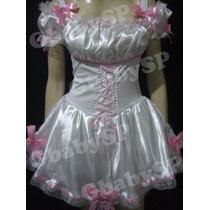 Vestido Noiva Junino Adulto Roupa Festa Junina Caipira