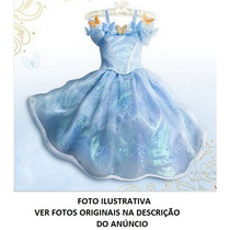Vestido Fantasia Cinderela Infantil Festa Pronta Entrega..