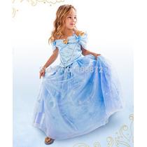 Vestido Fantasia Cinderela 2015 Meninas Pronta Entrega