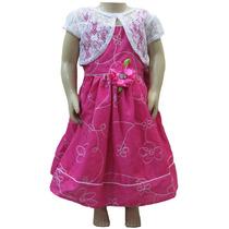 Vestido Infantil Casual Festa Bolero Menina Lindo Delicado