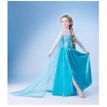 Fantasia Vestido Frozen Elsa Anna Princesa Disney Carnaval