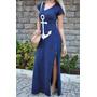 Vestido Azul Preto Ancora Mickey- Atacado Menor Preço!!
