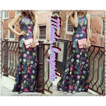 Lindo Vestido Flores Mandrix Inspirado Na Grife Lanvvin