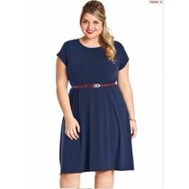 Vestido Feminino Liso Plus Size Roupas Grandes Tamanhos