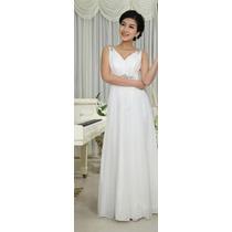 Vestido Noiva Casamento Civil Lindo Renda Branco Frete Grati
