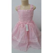 Lindo Vestido De Organza Rendado, 1 Ano. Modelo: 053.