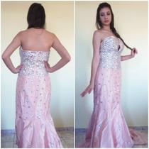 Vestido Rosa Madrinha Casamento Formatura 15 Anos Festas
