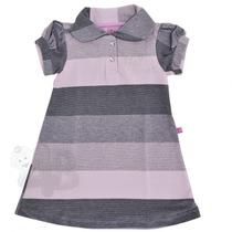 Vestido Bebê Infantil Polo Listrado - Kiki Xodó - 4babies
