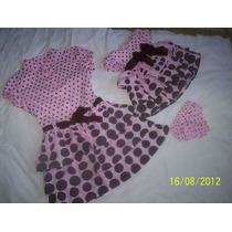 Kit Vestido Mãe E Filha Rosas De Bolas Marrom