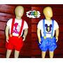 Jojo Baby - Conjunto Jardineira Camisa Personalizada Mickey