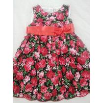 Vestido Infantil Vermelho Florido Laura Ashley