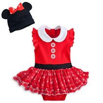 Fantasia Original Baby Disney Minnie Vermelha Para Bebes