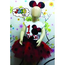 Jojo Baby - Body / Camisa + Tutu Minnie Persoalizado