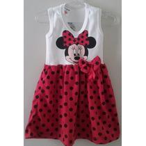 Vestido Infantil Malha Minnie - Tam 3 Anos
