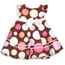 Vestido Importado Infantil Bolinha Carter