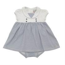 Vestido Para Bebê Infantil Listras Marinheira - Noruega