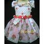 Vestido Fantasia De Festa Infantil Moranguinho - 5a8meses