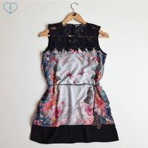 Vestido Antix Minivest Flores E Libélulas 9249 - Novo