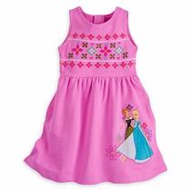 Vestido Elsa Anna Frozen Disney Bordado Ponto Cruz Novo 9/10