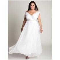 Vestido De Noiva Sob Medida Em Renda E Musseline Plus Size