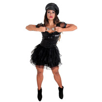 Fantasia Policial Black Heat Girl Sulam Tam P ( 38 A 40)