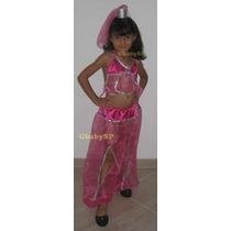 Fantasia Infantil Odalisca Jasmine Aladdin - Calça Véu E Top