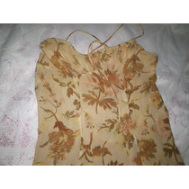 Vestido Lelis Blanc De Seda Estampa Floral Tamanho M