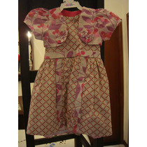 Vestido Infantil Menina Tam. 1 Ano Com Bolero Laço Rodado