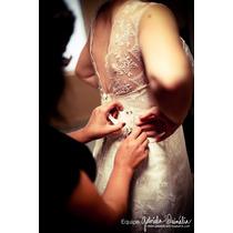 Vestido De Noiva Off White Em Renda Francesa