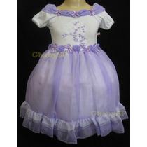 Vestido De Festa Infantil Branco Daminha Casamento Princesa