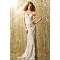 Vestido De Noiva Sereia Tomara Que Caia E Cauda, Renda Nobre