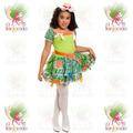 Vestido Junino Infantil Caipira Festa Junina °boneca Verde-c