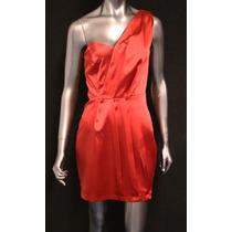 Vestido De Festa Cetim Vermelho - Tam: Gg