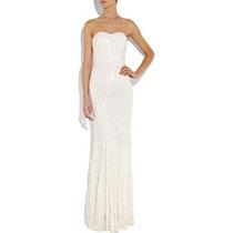 Vestido Extra Longo De Noiva Bordado Em Paetes Sob Medida