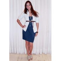 Vestido Tqc Sarja Azul Atlantic, Tam M, Zerozen