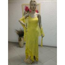 Vestido De Madrinha Em Crepe Georgette Amarelo M101
