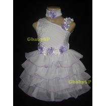 Vestido De Festa Casamento Batizado Infantil - Frete Grátis