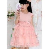 Vestido Infantil Princesa Rosa 8, 9, 10,11, 12 Anos